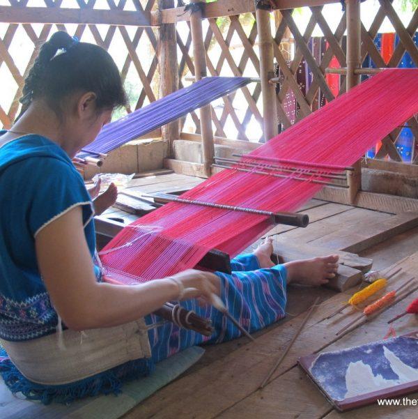 TTraditional Karen weaving Laos/Thailand