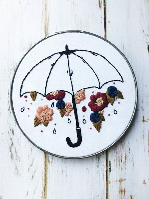 Thread The Wick - Raining Flowers Hoop