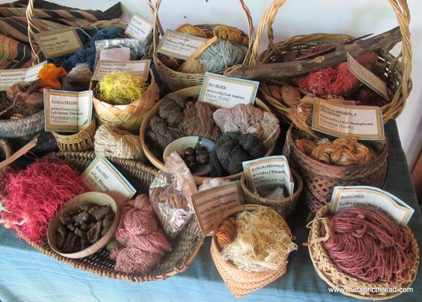 A selection of natural dyes