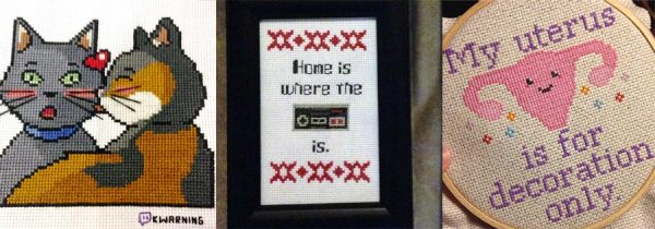 A few of Kari's many cross stitch projects over the years.