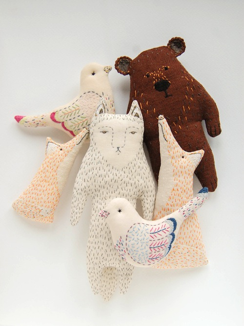Woodland Tale - Embroidered Animals