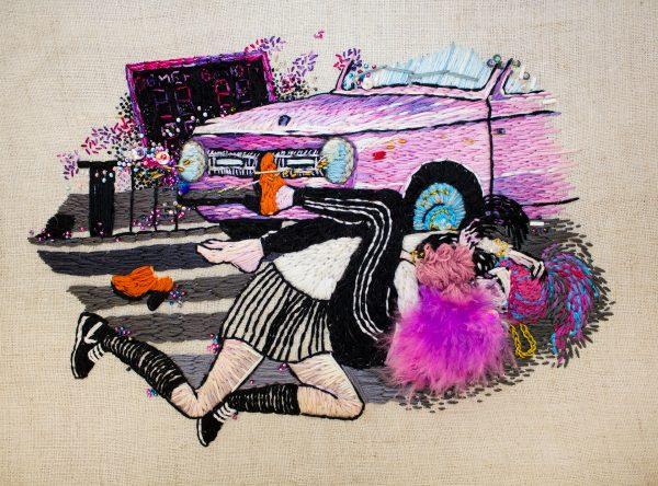 Olga Lisowska - My Love Kicked My Ass - Hand Embroidery & Beadwork