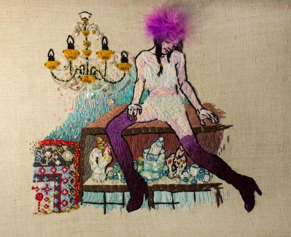 Olga Lisowska - Nastya, What The Fuck You're Doing On The Wardrobe - Hand Embroidery & Beadwork