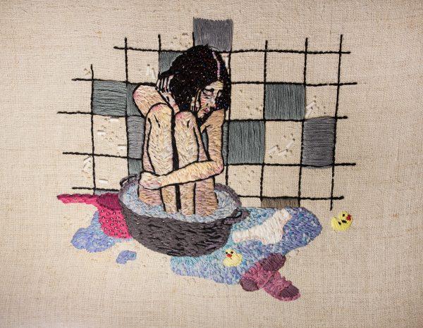 Olga Lisowska - No Hot Running Water - Hand Embroidery & Beadwork