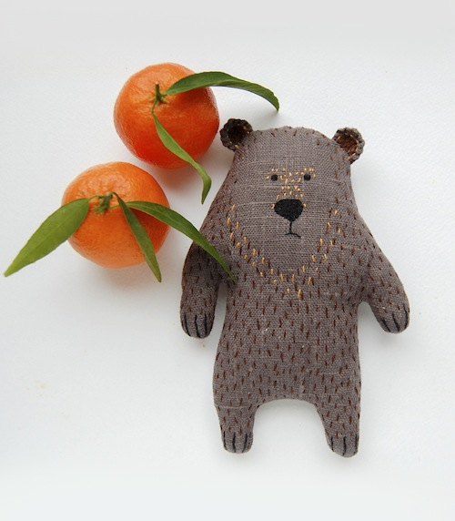 Woodland Tale - Embroidered Bear