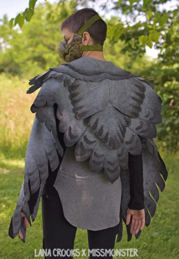 Miss Monster Mel x Lana Crooks wing shawl