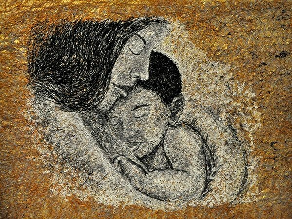Yumiko Reynolds - Mother and Child Gold1