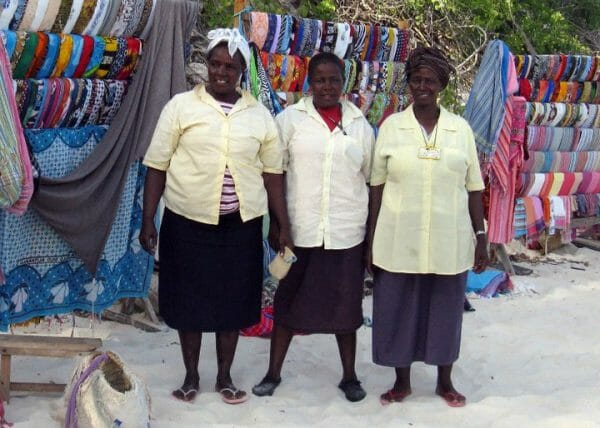 Textile travel can enable you to meet people like the Kikoy sellers on the beach at Malindi in Kenya