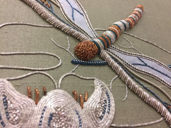 Classes at the San Francisco School of Needlework and Design include historical techniques, stumpwork, padding and couching, plus more modern applications (like stitching on found objects). There's something for everyone on the class agenda.