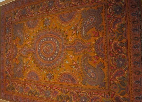 Antique patteh shawl with traditional design