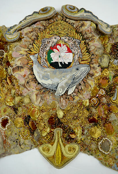 Coat of arms detail, by Sally Wilson