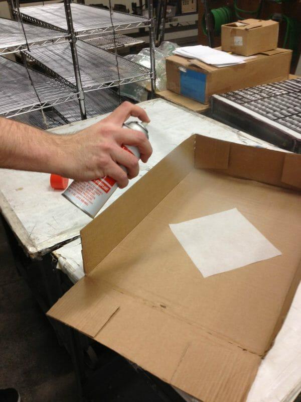 Applying Spray Adhesive