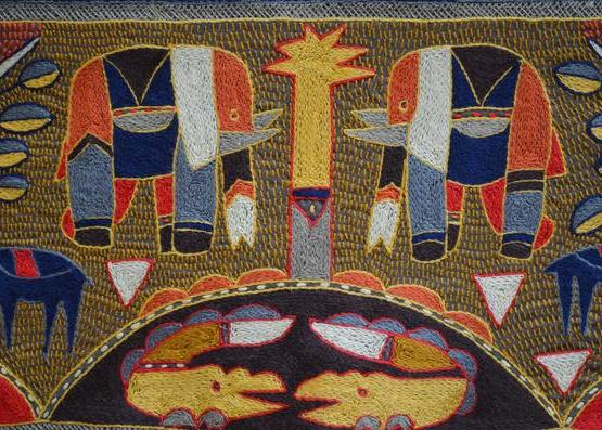 Kaross Embroidery - Details on a table cloth