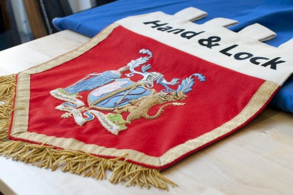 Hand & Lock Embroidered Pennant