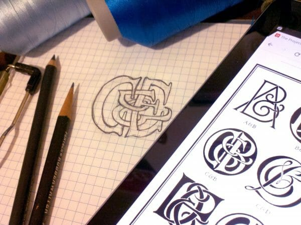 Erich Sketches Monograms from a traditional exemplar