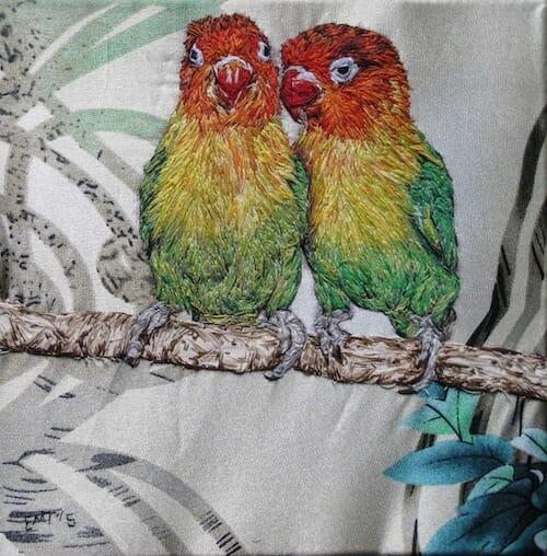 Emily Tull - Lovebirds - Hand Embroidery
