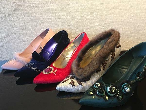 Custom handmade and embroidered shoes by Elena Savelyeva