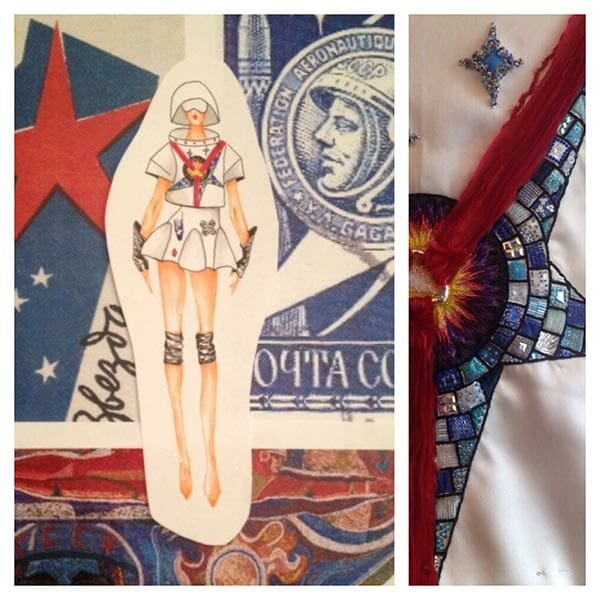 Embroidered fashion design and detail, Elena Savelyeva