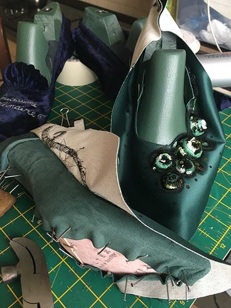 Handmade shoes, in progress, Elena Savelyeva