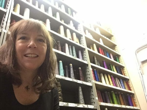All smiles during and after my visit to the Kreinik thread factory. While Doug Kreinik gives unofficial tours periodically, the factory outlet store is open during regular business hours. If you have a chance to visit, go! It's 1708 Gihon Road, Parkersburg, West Virginia, USA.