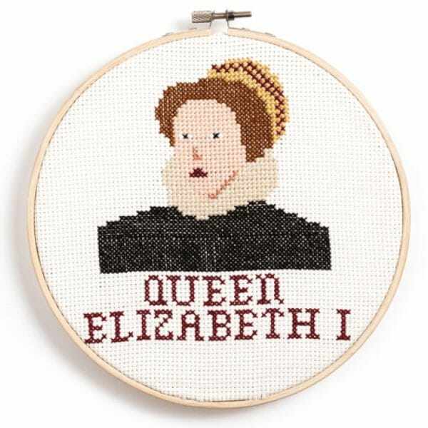 Queen Elizabeth Design from Feminist Icon Cross Stitch