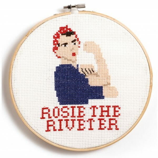 Rosie The Riveter design from Feminist Icon Cross Stitch