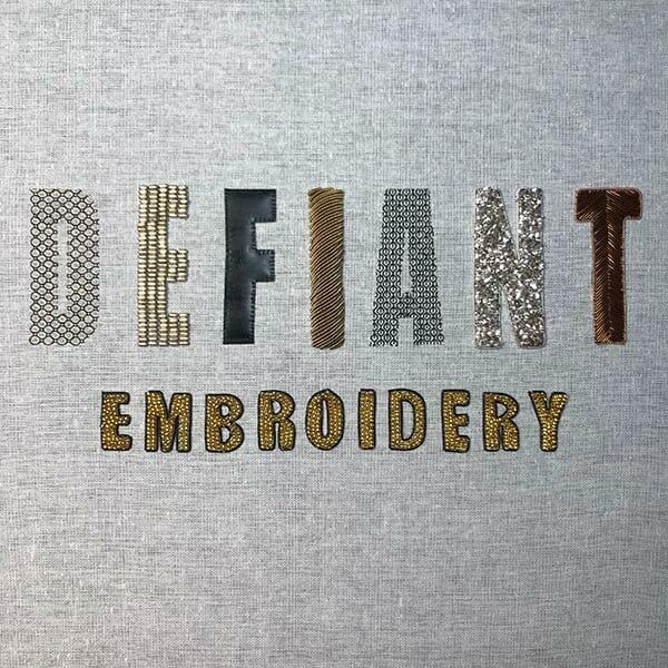 Defiant Technique Sampler, by Claire Edwards