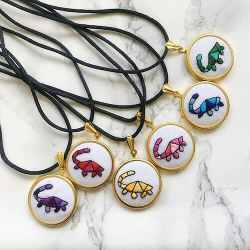 Hatchling Makes - Dinosaur Pendants