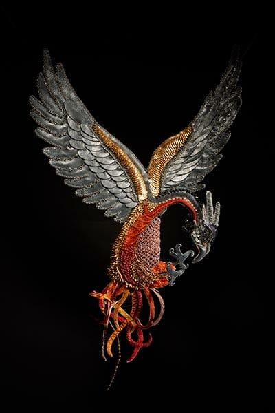 Phoenix, by Claire Edwards, Hand & Lock Prize for Embroidery