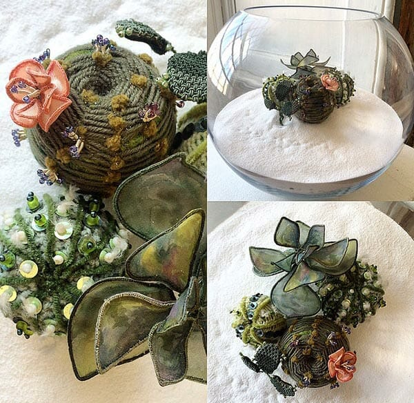 Succulent bowl, by Elena Thornton