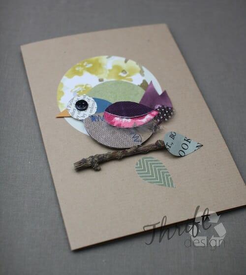 Thrift Design - Spring Bird Card