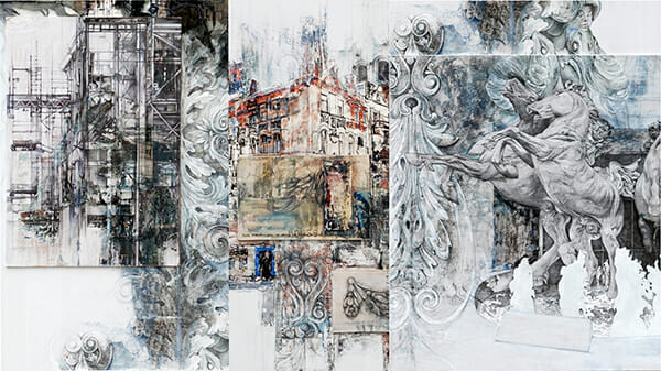 Architectural Collage, by Sally Wilson