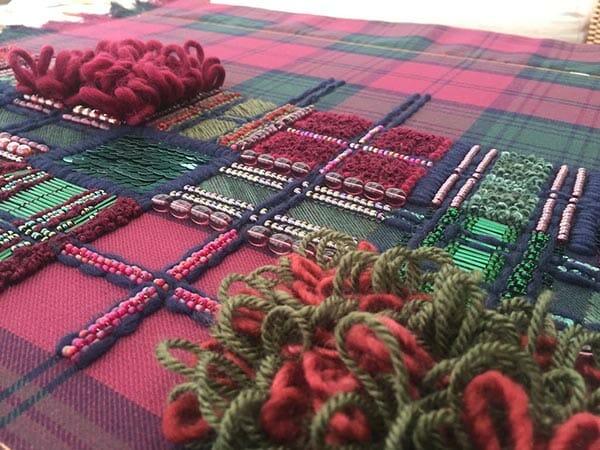 Beautiful Mess, progress detail, Shonaegh Stewart, Hand & Lock Prize for Embroidery