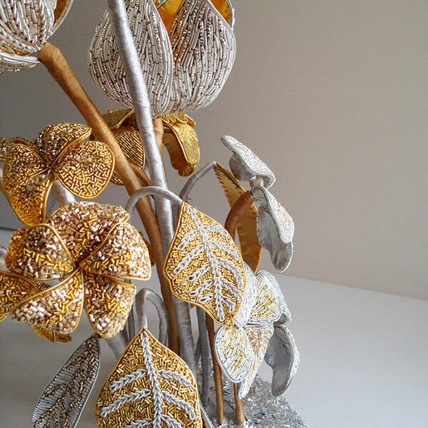 Embroidery Sculpture, by Hannah Mansfield