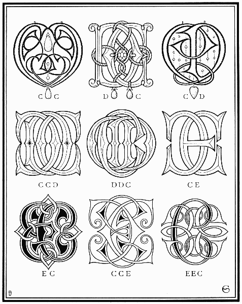 Monogram Examples from a Vintage Book on Ciphers
