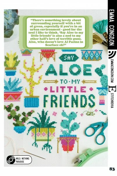 Emma Congdon's cross stitch design for Issue 4 of XStitch Magazine