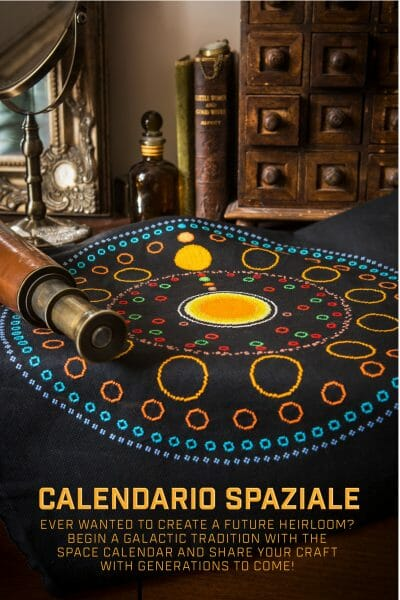 Tom Katsumi's Space Calendar design