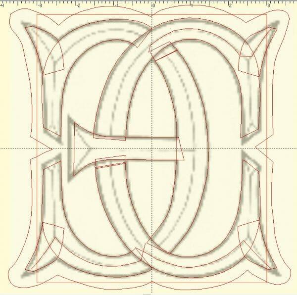 Vector Lines for Digitized Monogram
