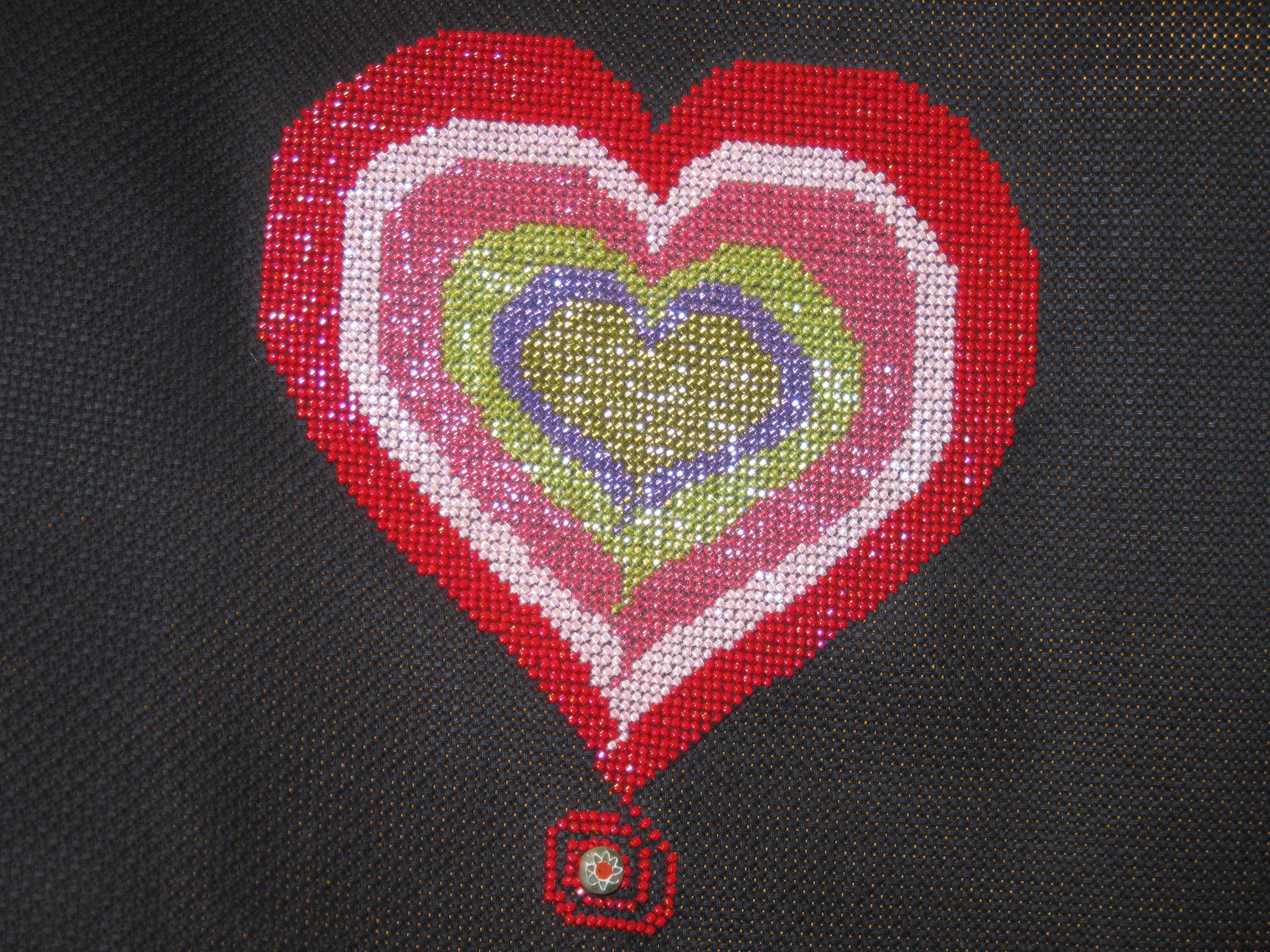 Heart of Beads-Designed by Debbie Monachella