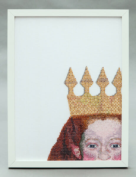 Self portrait, by Charis Esther, Hand & Lock Prize for Embroidery, 3rd Place, Textile Art, Open category