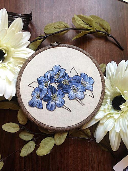 Pengelly Crafts - Blue Floral Hoop