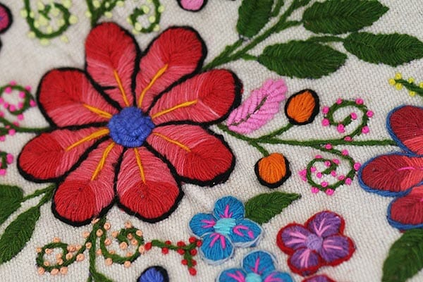 Hand embroidery detail, by Paloma Alarcon
