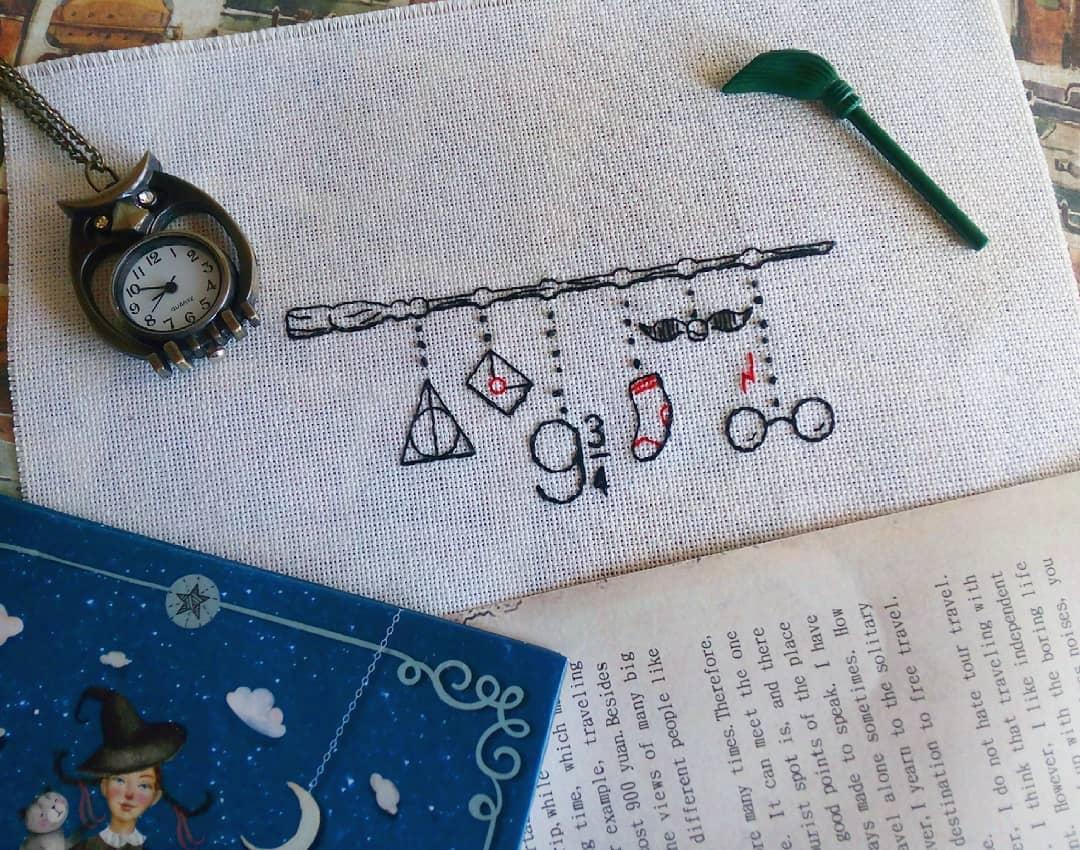 Harry potter cross stitch by katardzhina
