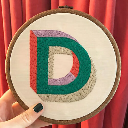 Modern Floss - D Embroidery Hoop