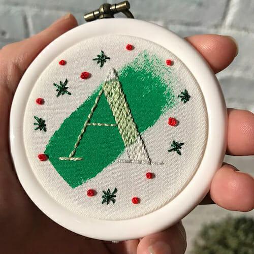 Modern Floss - Christmas Decoration Hoop