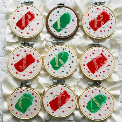 Modern Floss - Christmas Decoration Hoops