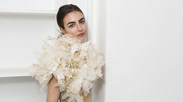 The work of embroidery artist, Emma Wilkinson. Photography: Nina Shahroozi; Model: Brooke Mills