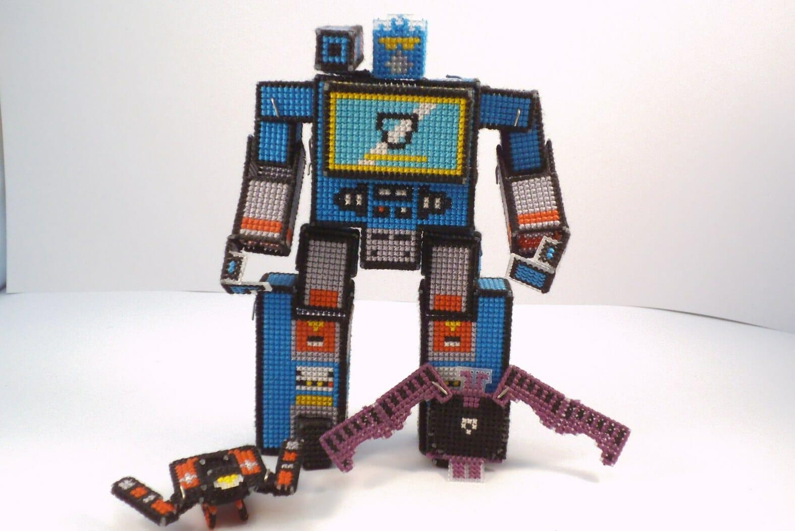 Lord Libidan - Soundwave Transformer Cross Stitch