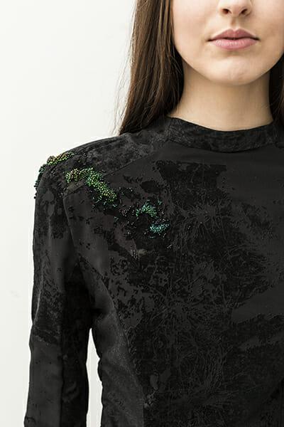 4 - The work of embroidery artist, Emma Wilkinson. Photography: Nina Shahroozi; Model: Brooke Mills