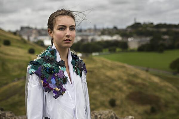 5 - The work of embroidery artist, Emma Wilkinson. Photography: Nina Shahroozi; Model: Brooke Mills